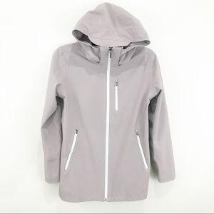 ZELLA Taupe Hooded Rain Coat Cinched Jacket NWOT